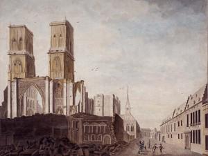 destruction cathédrale (c) Trésor de la cathédrale de Liège